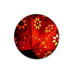 Star Light Christmas Romantic Hell Rubber Round Coaster (4 Pack)