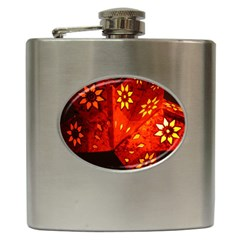 Star Light Christmas Romantic Hell Hip Flask (6 Oz)