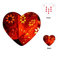 Star Light Christmas Romantic Hell Playing Cards (heart)