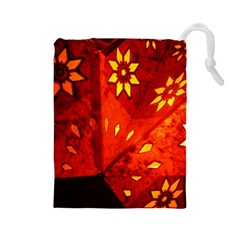 Star Light Christmas Romantic Hell Drawstring Pouches (large)