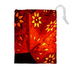 Star Light Christmas Romantic Hell Drawstring Pouches (extra Large)