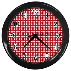 Christmas Paper Wrapping Paper Wall Clocks (black)