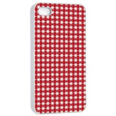 Christmas Paper Wrapping Paper Apple Iphone 4/4s Seamless Case (white)