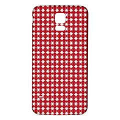 Christmas Paper Wrapping Paper Samsung Galaxy S5 Back Case (white)