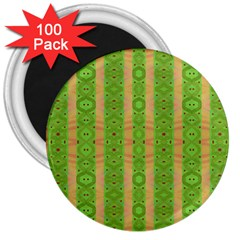 Seamless Tileable Pattern Design 3  Magnets (100 Pack)