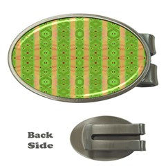 Seamless Tileable Pattern Design Money Clips (oval)
