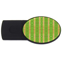 Seamless Tileable Pattern Design Usb Flash Drive Oval (2 Gb)