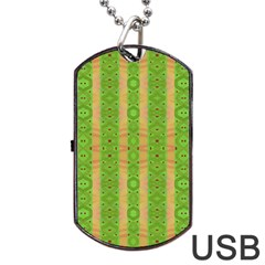 Seamless Tileable Pattern Design Dog Tag Usb Flash (one Side)