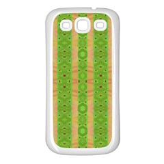 Seamless Tileable Pattern Design Samsung Galaxy S3 Back Case (white)
