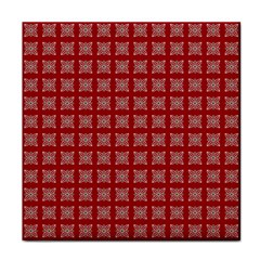 Christmas Paper Wrapping Paper Tile Coasters