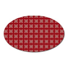 Christmas Paper Wrapping Paper Oval Magnet
