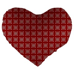 Christmas Paper Wrapping Paper Large 19  Premium Heart Shape Cushions