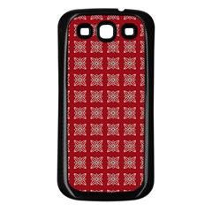 Christmas Paper Wrapping Paper Samsung Galaxy S3 Back Case (black)