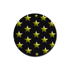 Stars Backgrounds Patterns Shapes Rubber Round Coaster (4 Pack)