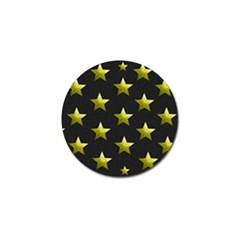 Stars Backgrounds Patterns Shapes Golf Ball Marker