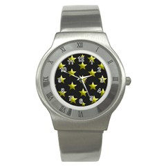Stars Backgrounds Patterns Shapes Stainless Steel Watch