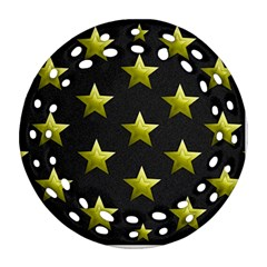 Stars Backgrounds Patterns Shapes Round Filigree Ornament (two Sides)