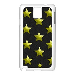 Stars Backgrounds Patterns Shapes Samsung Galaxy Note 3 N9005 Case (white)