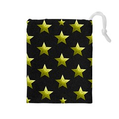 Stars Backgrounds Patterns Shapes Drawstring Pouches (large)
