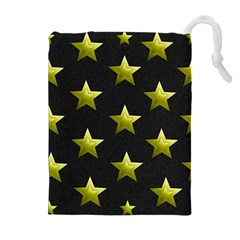 Stars Backgrounds Patterns Shapes Drawstring Pouches (extra Large)