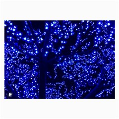 Lights Blue Tree Night Glow Large Glasses Cloth