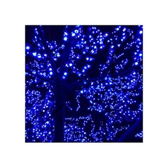 Lights Blue Tree Night Glow Acrylic Tangram Puzzle (4  X 4 )