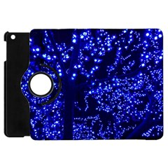 Lights Blue Tree Night Glow Apple Ipad Mini Flip 360 Case