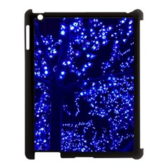 Lights Blue Tree Night Glow Apple Ipad 3/4 Case (black)