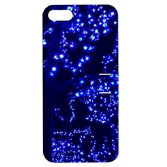 Lights Blue Tree Night Glow Apple Iphone 5 Hardshell Case With Stand