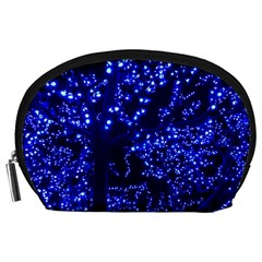 Lights Blue Tree Night Glow Accessory Pouches (large)