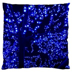 Lights Blue Tree Night Glow Standard Flano Cushion Case (one Side)