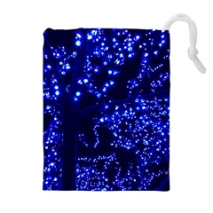 Lights Blue Tree Night Glow Drawstring Pouches (extra Large)