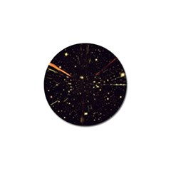 Star Sky Graphic Night Background Golf Ball Marker
