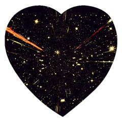 Star Sky Graphic Night Background Jigsaw Puzzle (heart)