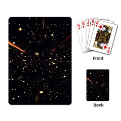 Star Sky Graphic Night Background Playing Card