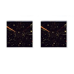 Star Sky Graphic Night Background Cufflinks (square)