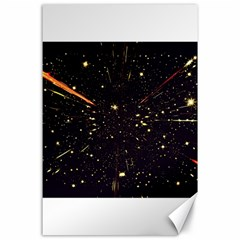Star Sky Graphic Night Background Canvas 24  X 36
