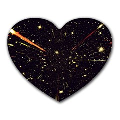 Star Sky Graphic Night Background Heart Mousepads