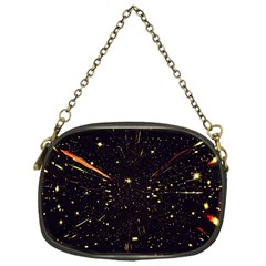 Star Sky Graphic Night Background Chain Purses (one Side)