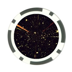Star Sky Graphic Night Background Poker Chip Card Guard (10 Pack)