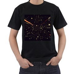 Star Sky Graphic Night Background Men s T Shirt (black)