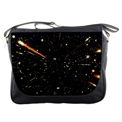 Star Sky Graphic Night Background Messenger Bags