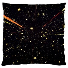 Star Sky Graphic Night Background Large Cushion Case (two Sides)