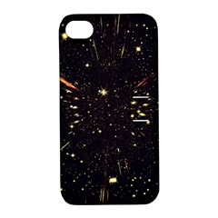Star Sky Graphic Night Background Apple Iphone 4/4s Hardshell Case With Stand