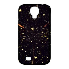 Star Sky Graphic Night Background Samsung Galaxy S4 Classic Hardshell Case (pc+silicone)
