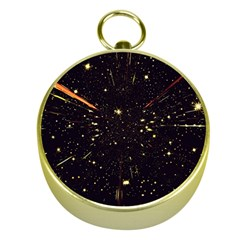 Star Sky Graphic Night Background Gold Compasses
