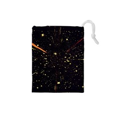 Star Sky Graphic Night Background Drawstring Pouches (small)