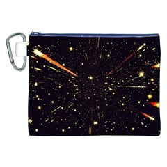 Star Sky Graphic Night Background Canvas Cosmetic Bag (xxl)