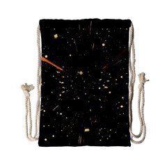 Star Sky Graphic Night Background Drawstring Bag (small)