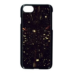 Star Sky Graphic Night Background Apple Iphone 8 Seamless Case (black)